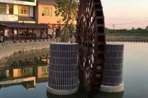 碳化木水车